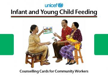 Screen shot of the cover of the Generic C-IYCF Counselling Cards