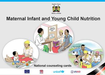 Screen shot of the cover of the Kenya C-IYCF Counselling Cards