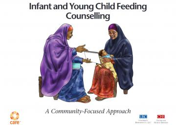 Screen shot of the cover of the Kenya Dadaab C-IYCF Counselling Cards