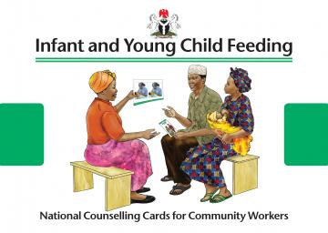 Screen shot of the cover of the Nigeria C-IYCF Counselling Cards
