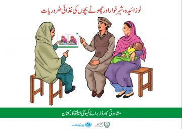 Screen shot of the cover of the Pakistan C-IYCF Counselling Cards
