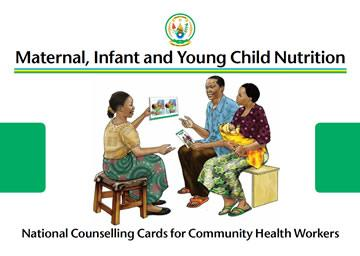 Screen shot of the cover of the Rwanda C-IYCF Counselling Cards