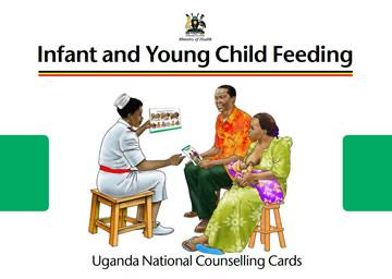 Screen shot of the cover of the Uganda C-IYCF Counselling Cards