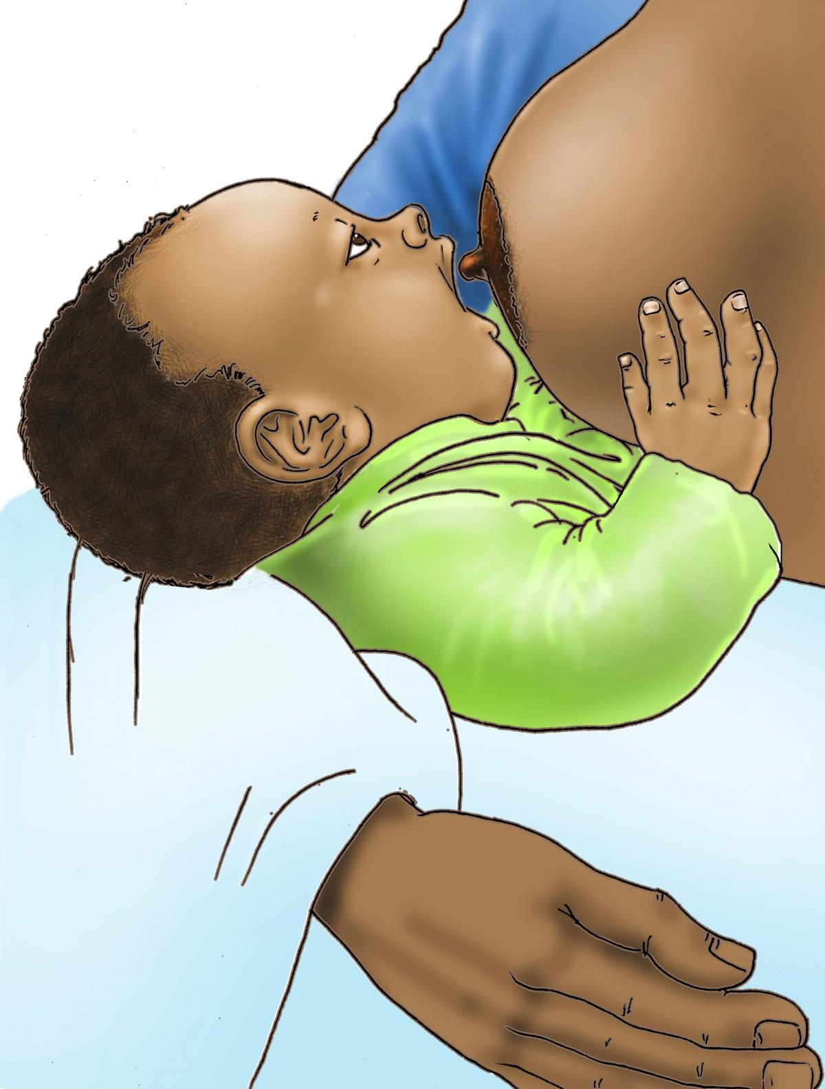 Breastfeeding - Breastfeeding pre-attachment 0-6 mo - 05E - Nigeria