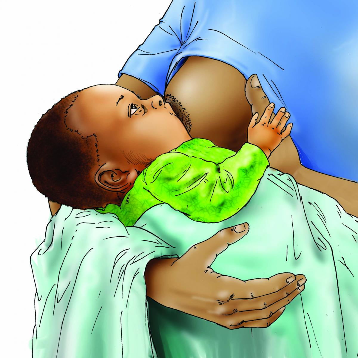 Breastfeeding - Breastfeeding attachment 0-6 mo - 06C - Nigeria