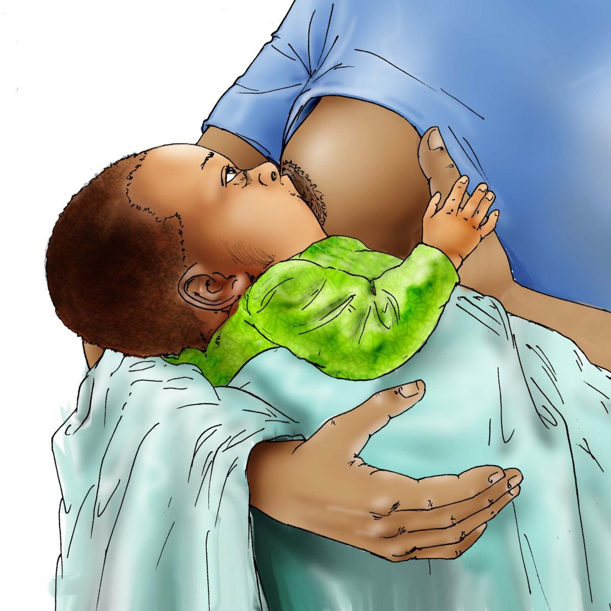 Breastfeeding - Breastfeeding attachment 0-6 mo - 06D - Nigeria