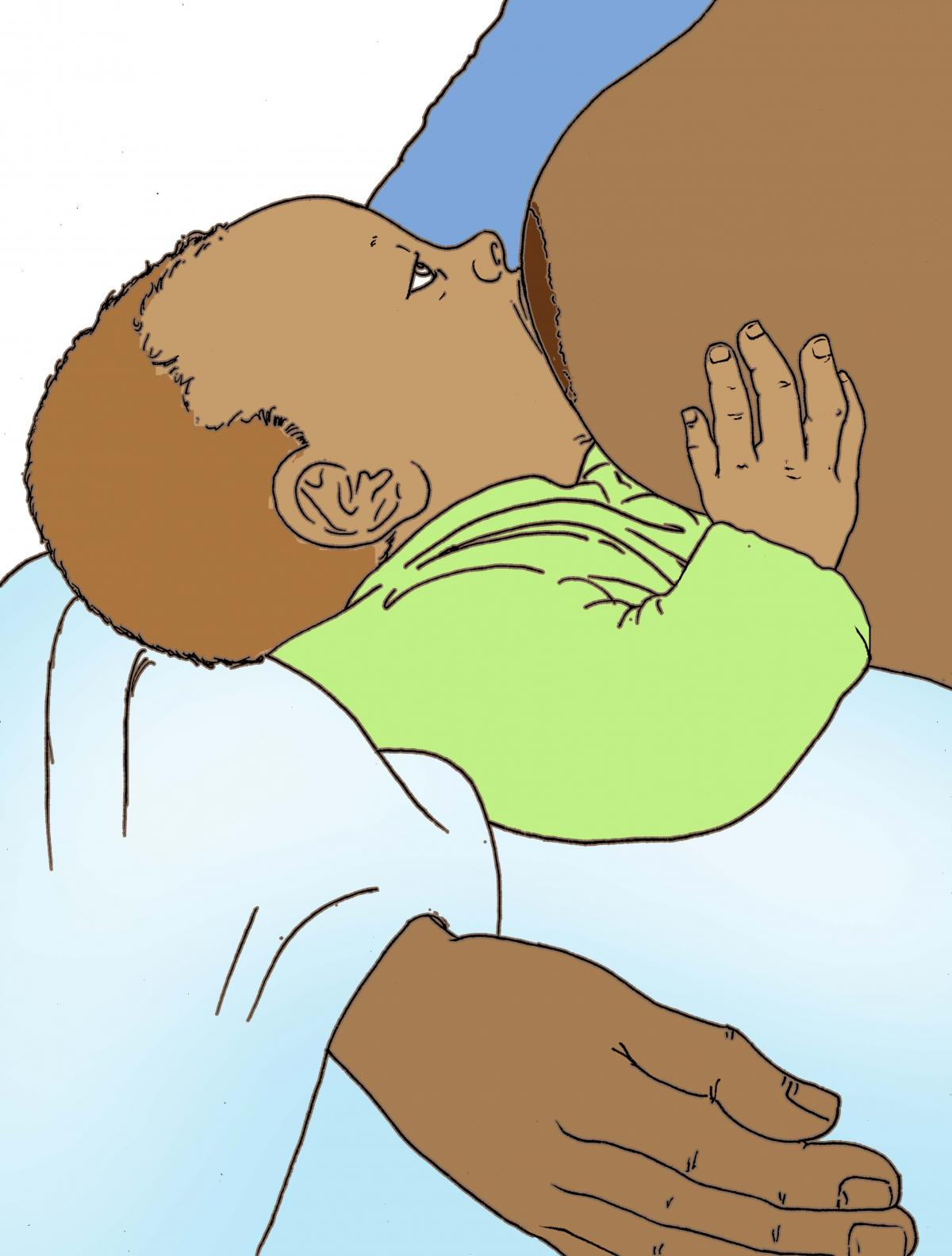 Breastfeeding - Breastfeeding good attachment - 06B - Non-country specific