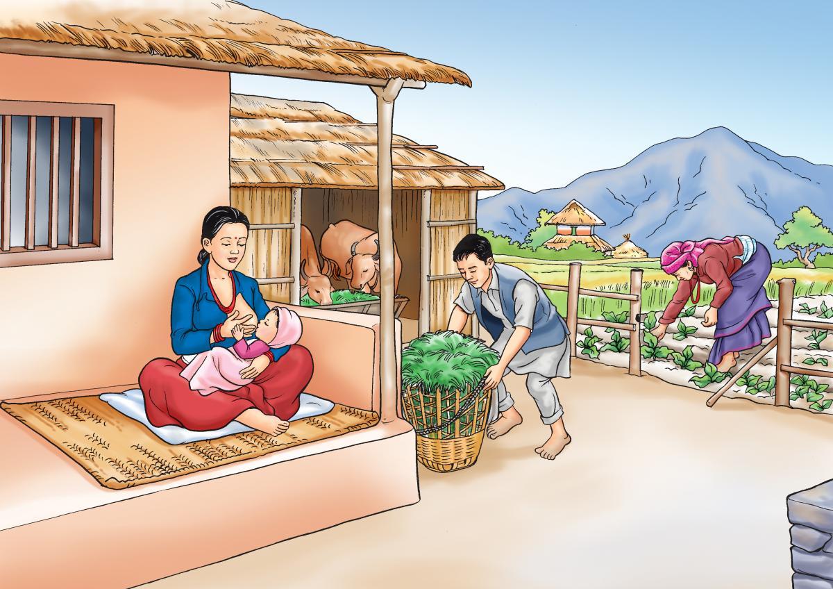Breastfeeding - Family support for breastfeeding - 01 - Nepal