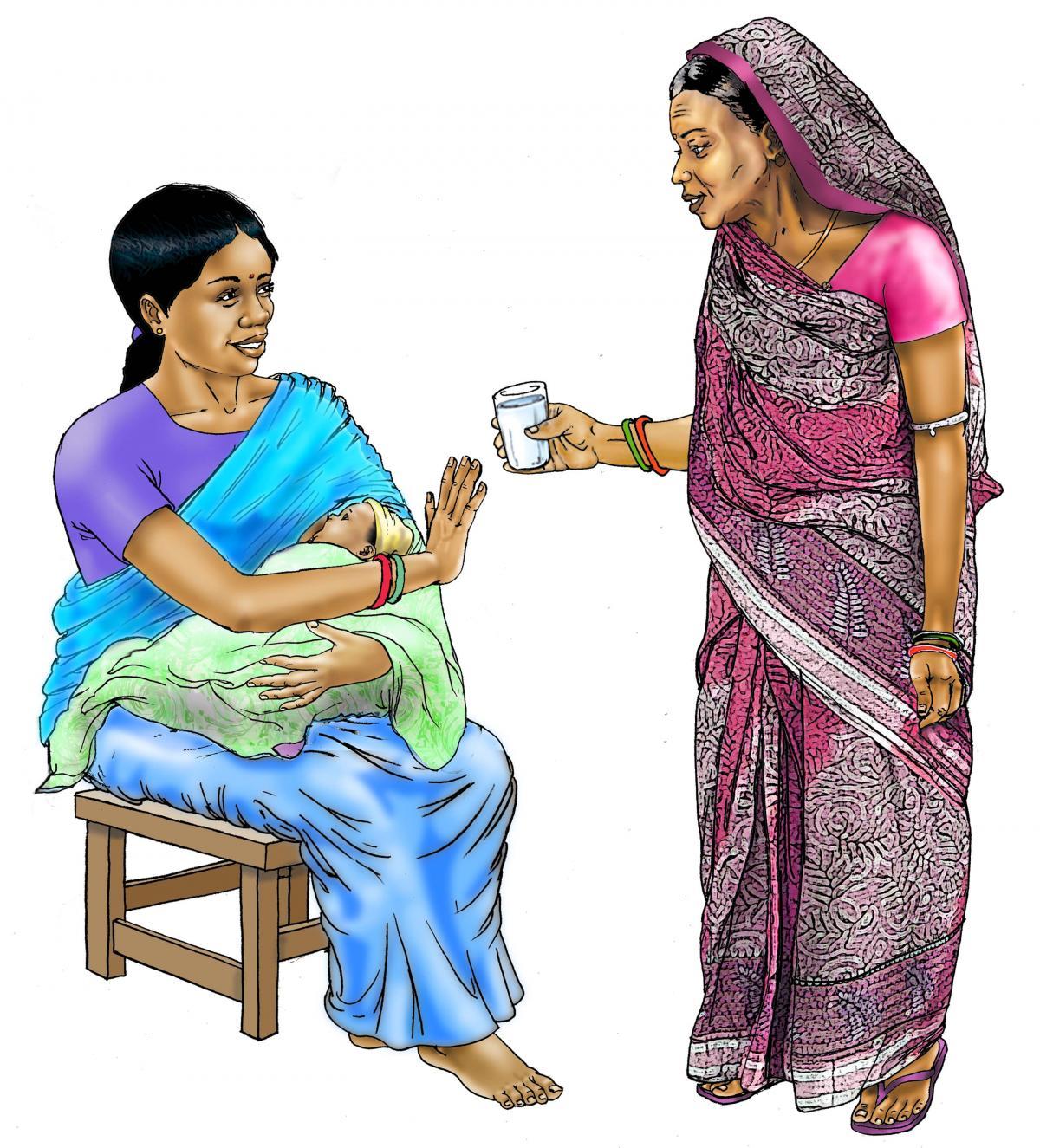 Breastfeeding - No water during breastfeeding 0-6 mo - 01 - India