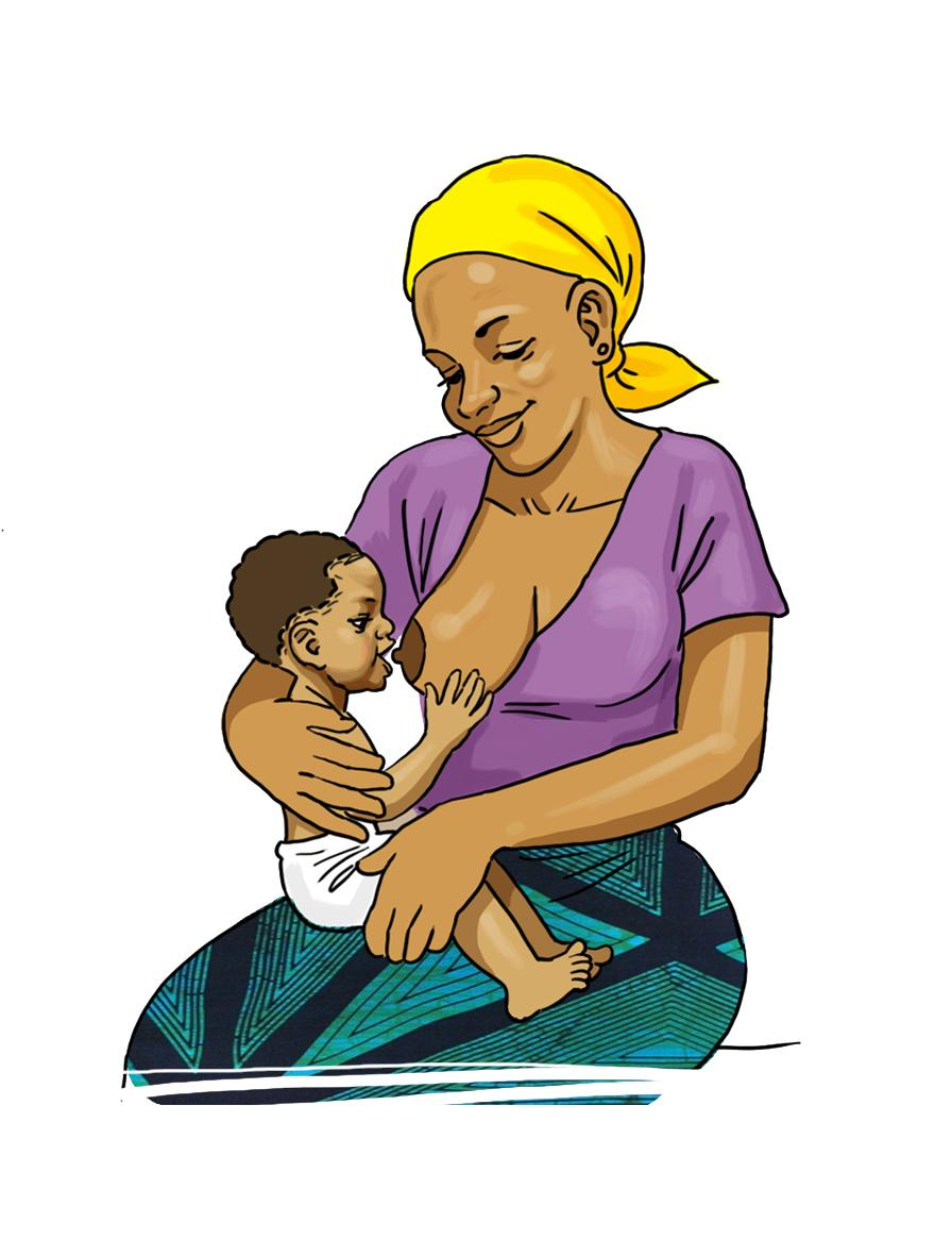 Breastfeeding - Baby rooting to breastfeed 0-6mo - 05 - Burkina Faso