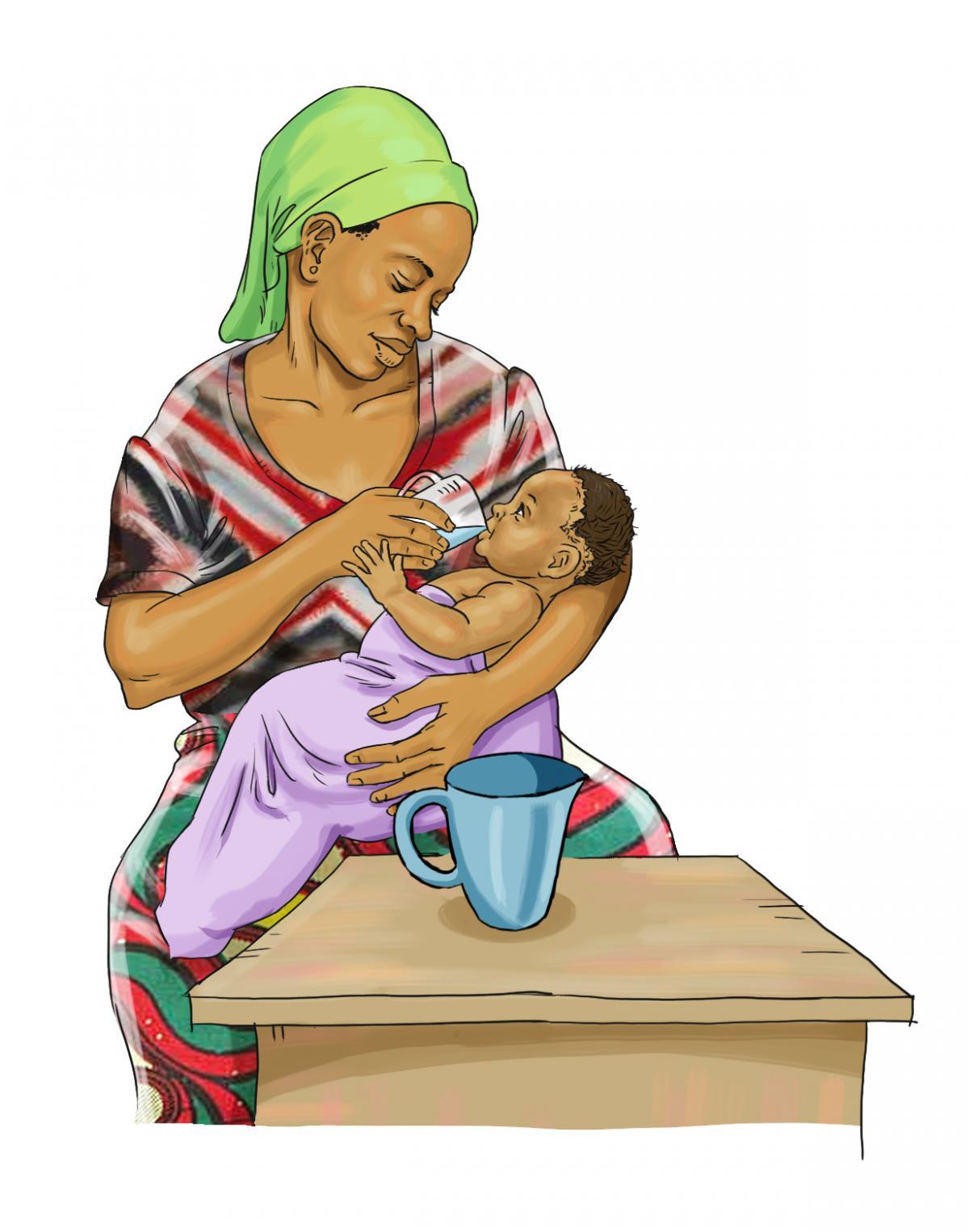 Breastfeeding - Giving baby water will increase risk of diarrhea 0-6mo - 01 - Burkina Faso