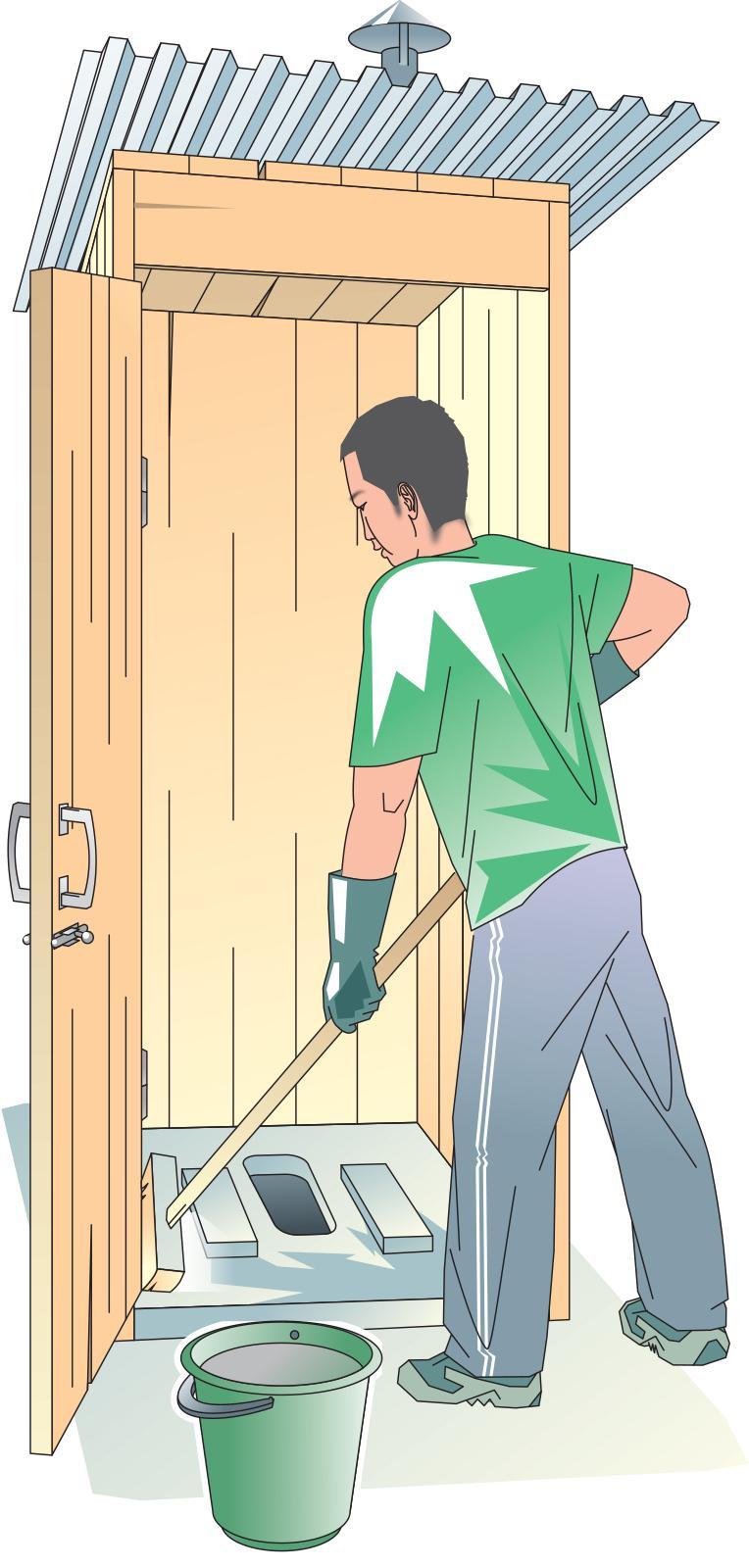 Sanitation - Cleaning the latrine  - 00C - Kyrgyz Republic