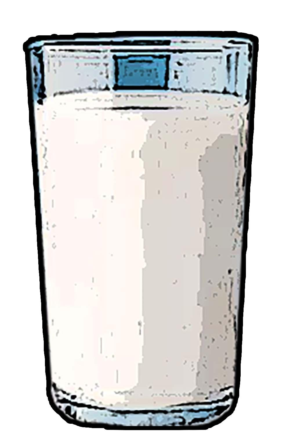 Objects - Glass of milk - 04 - Non-country specific
