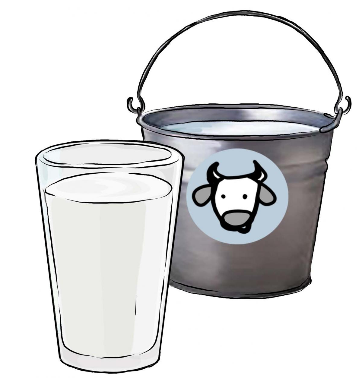 Objects - Pail of milk - 02 - Non-country specific