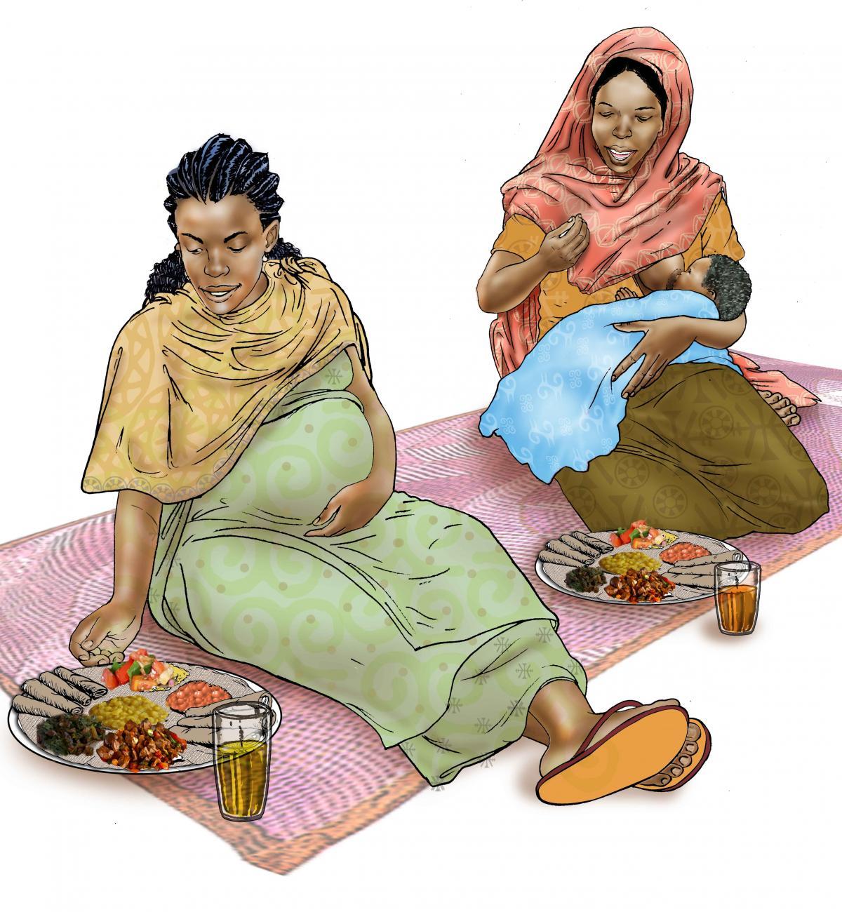 Breastfeeding - Mothers eating healthy meals - 05 - Ethiopia