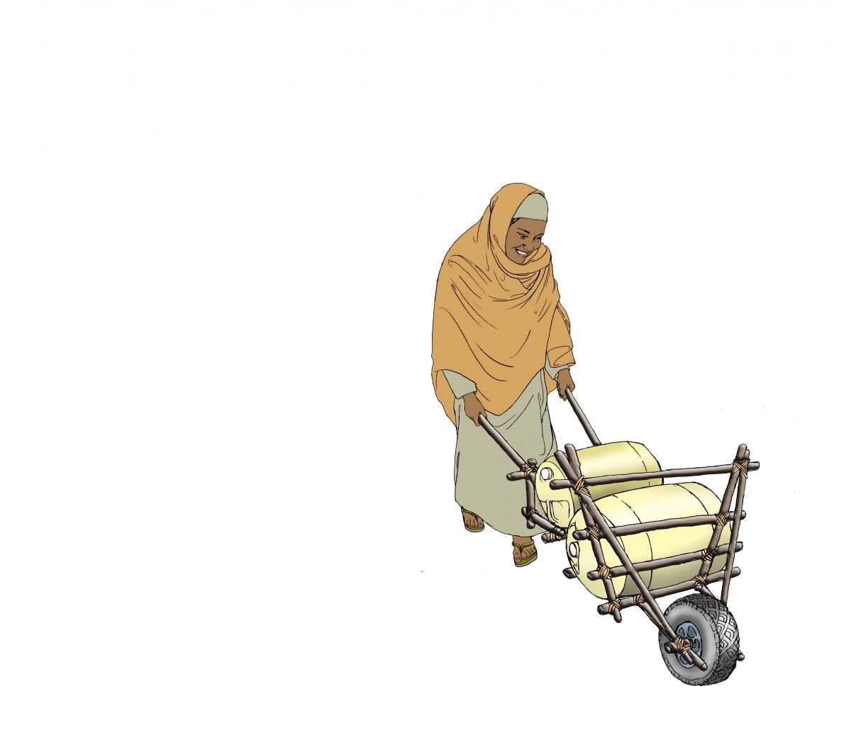 Sanitation - Woman fetching water - 02 - Kenya Dadaab