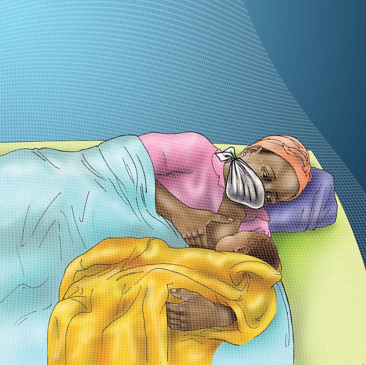 Breastfeeding - Breastfeeding at night - 01 - COVID