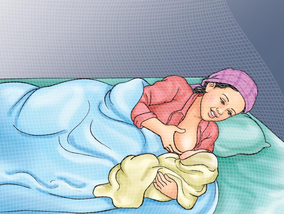 Breastfeeding - Breastfeeding positions - Side Lying at Night 0-24mo - 01 - Nepal