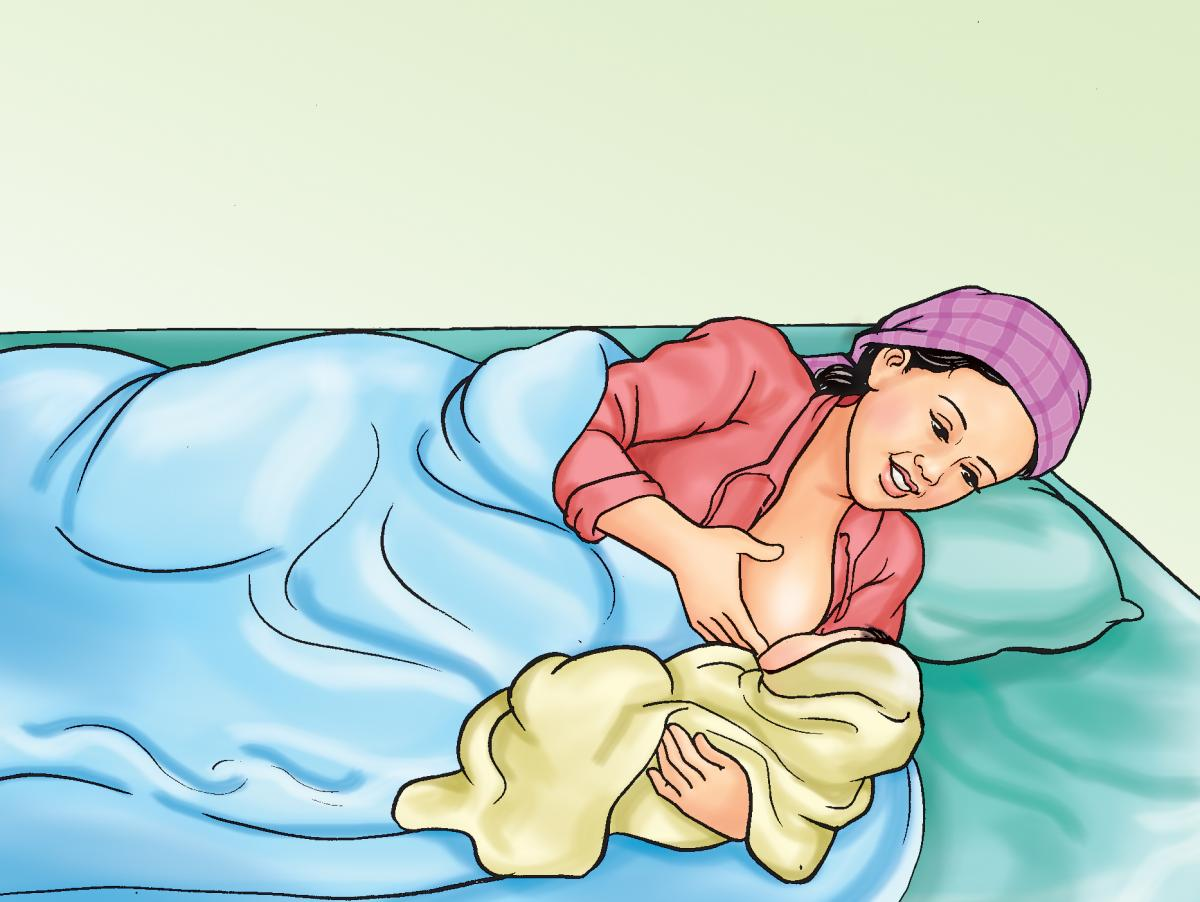 Breastfeeding - Breastfeeding positions - Side Lying 0-24mo - 02A - Nepal