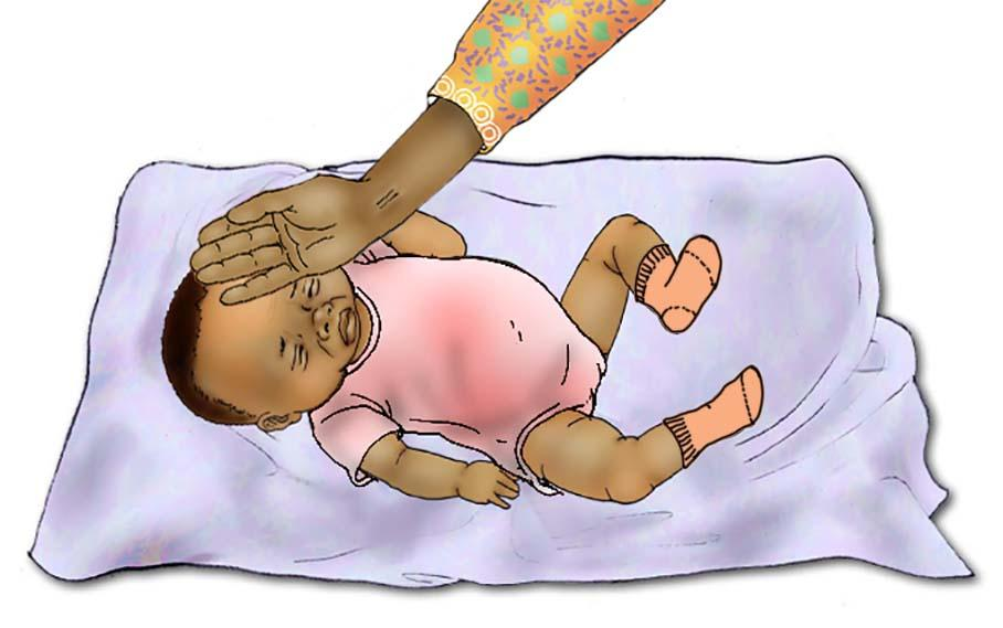 Sick Baby health care - Signs of sick baby - fever 0-6 mo - 05 - Nigeria