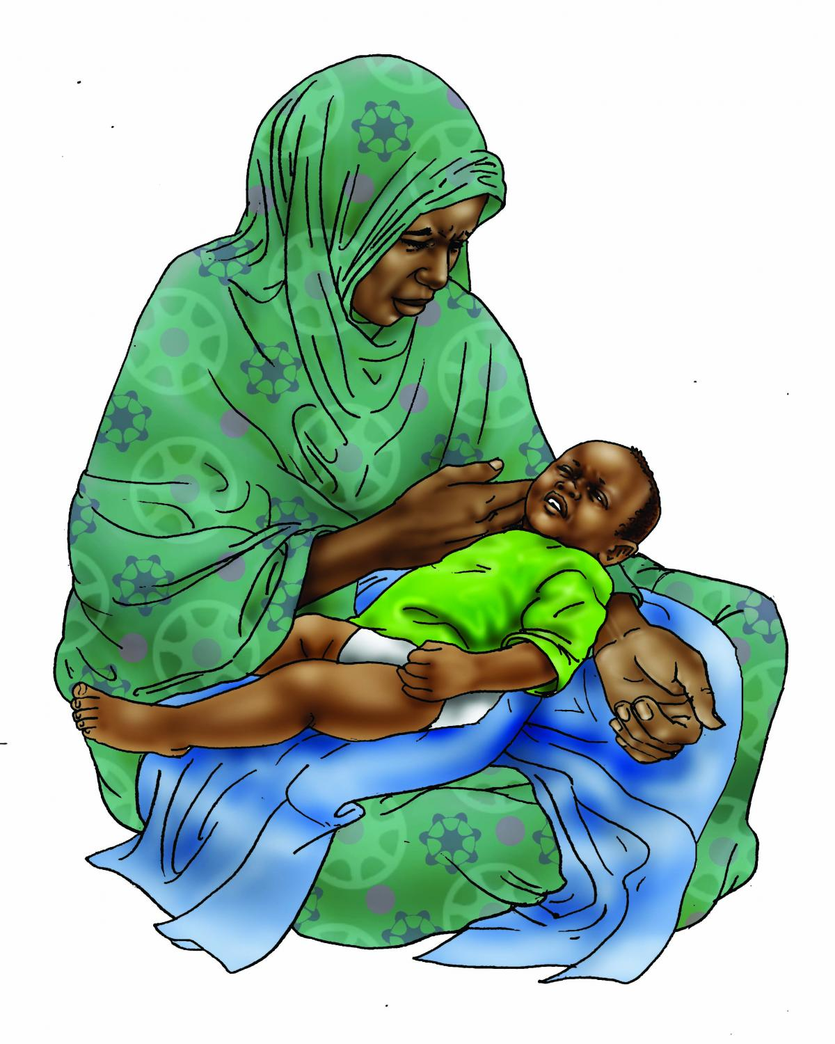 Sick Baby Nutrition - Mother taking temperature of baby - 06 - Niger