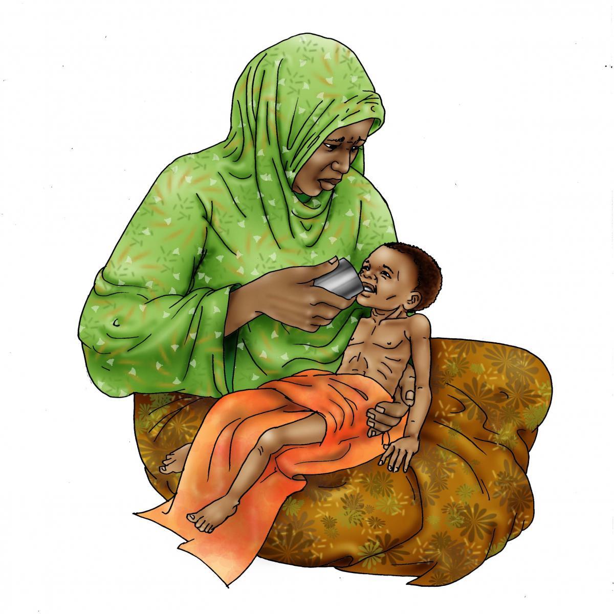 Sick Baby Nutrition - Feeding dehydrated baby 6-24 mo - 07 - Niger