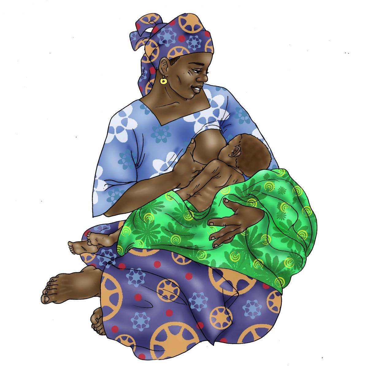 Sick Baby Nutrition - Mother breastfeeding sick baby 0-24 mo - 03 - Niger