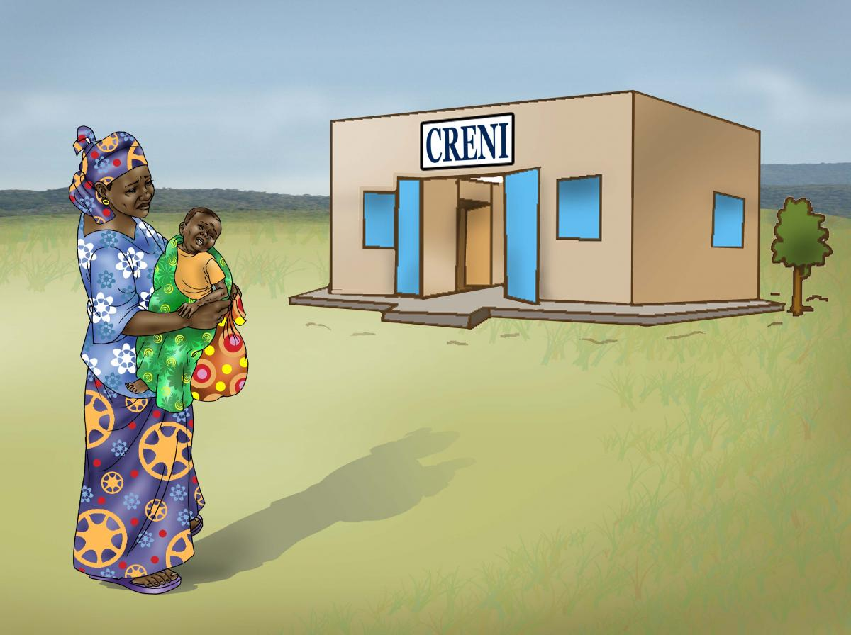 Sick Baby Health Care - Mother taking sick baby to clinic 0-24 mo - 03B - Niger