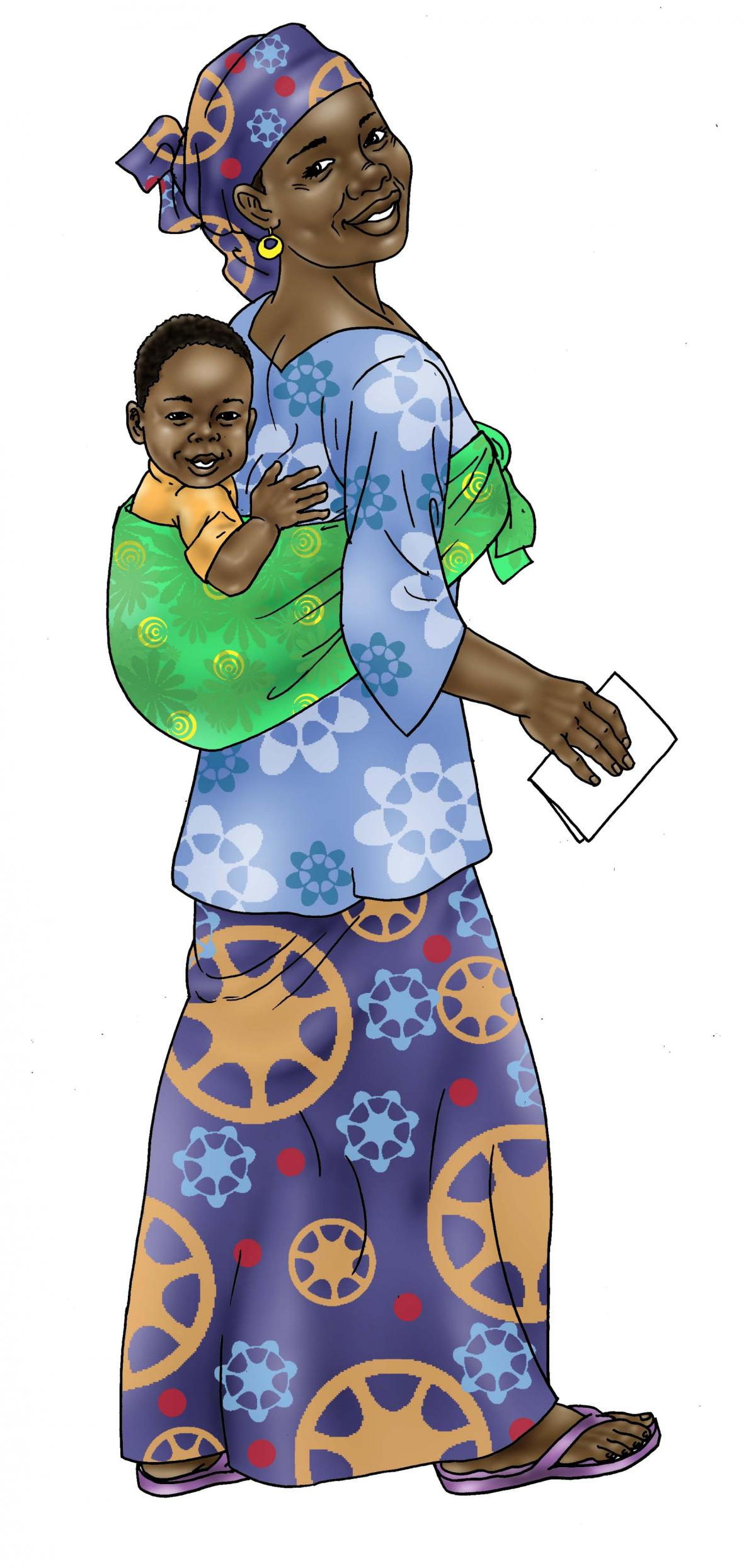 Sick Baby Health Care - Mother holding healthy baby 0-24 mo - 04 - Niger