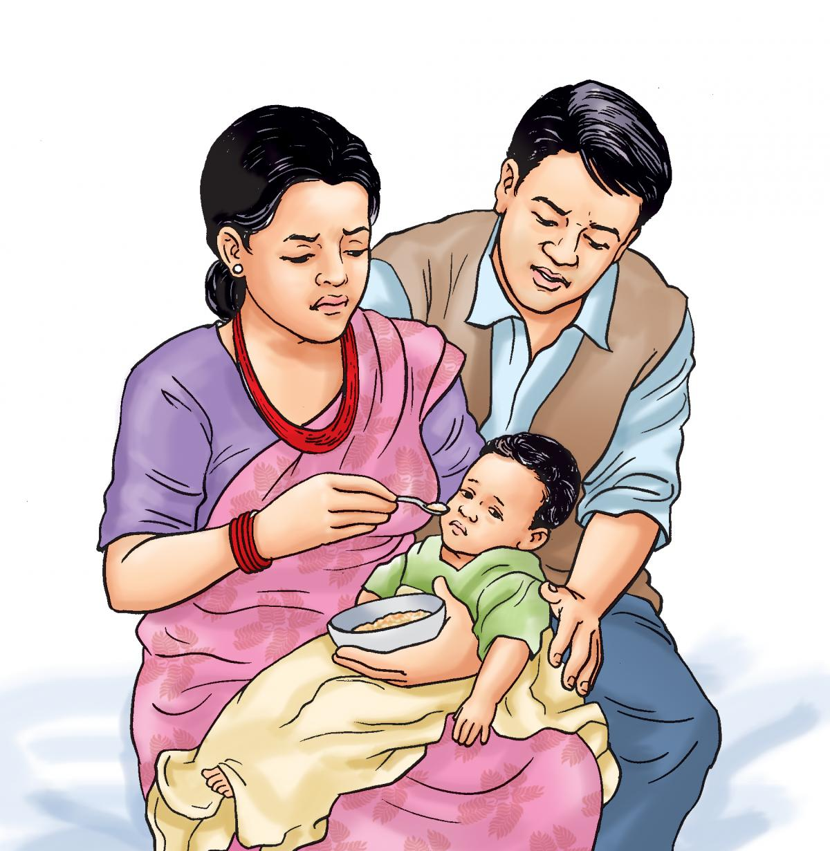 Sick child health - Complementary feeding for a sick child 6-24 mo - 02 - Nepal