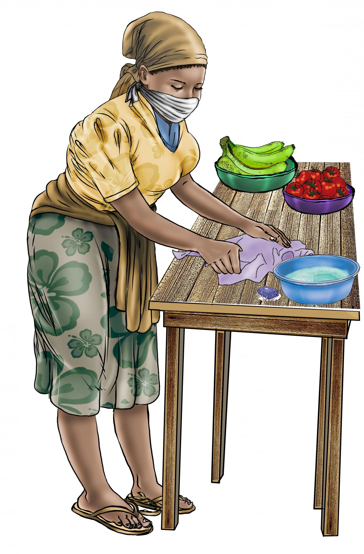 Food practices - Keep a clean area for food preparation - 01 - COVID