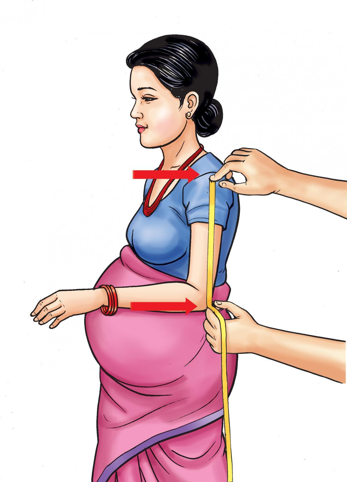 Maternal Health - Maternal MUAC - measuring shoulder to elbow - 02 - Nepal