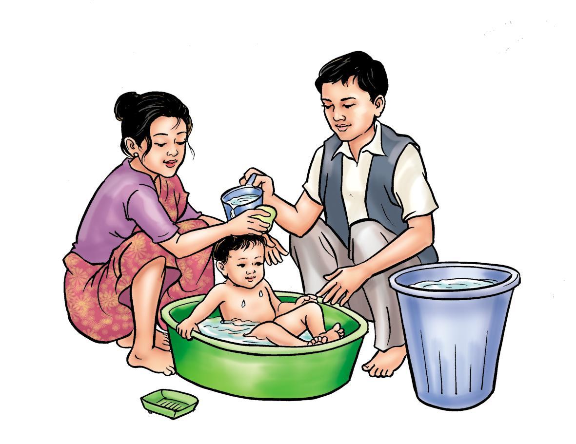Hygiene - Bathing your baby - 01 - Nepal