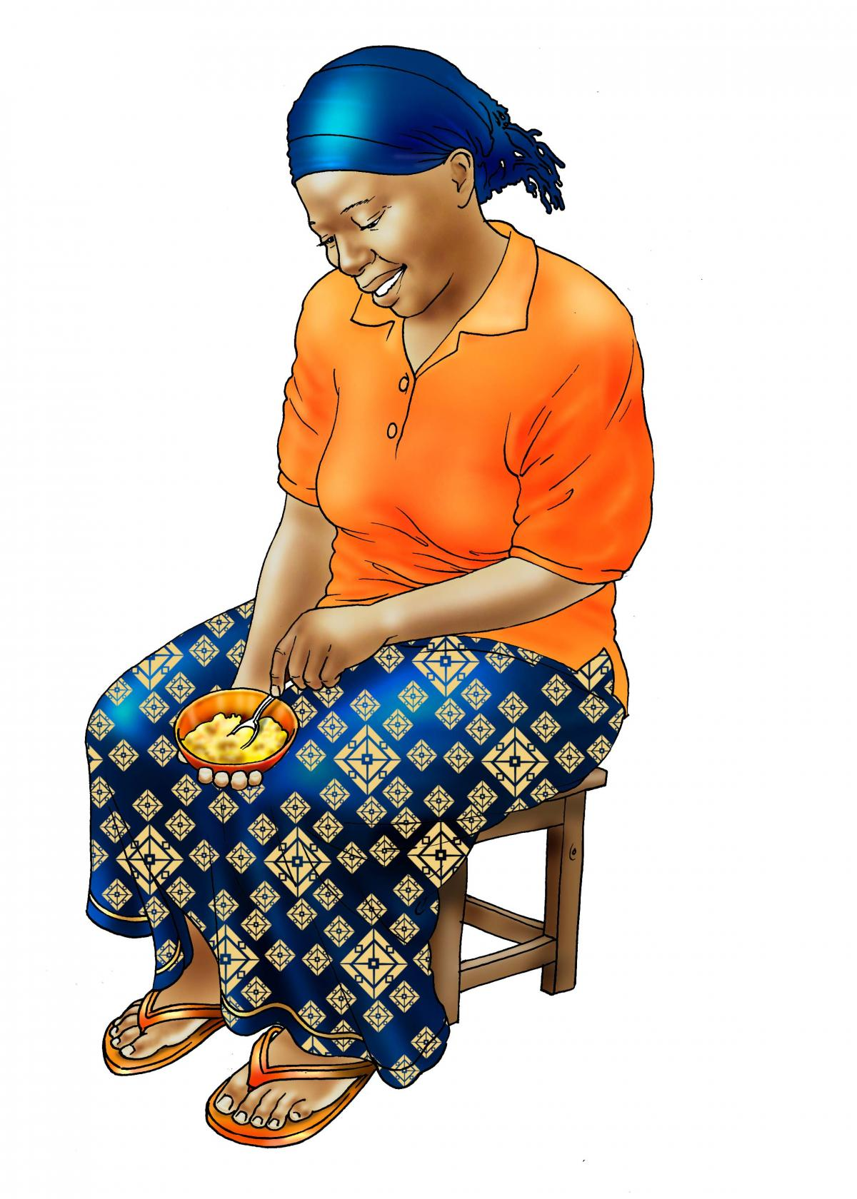 Family - Mother preparing complementary food - 01 - Non-country specific
