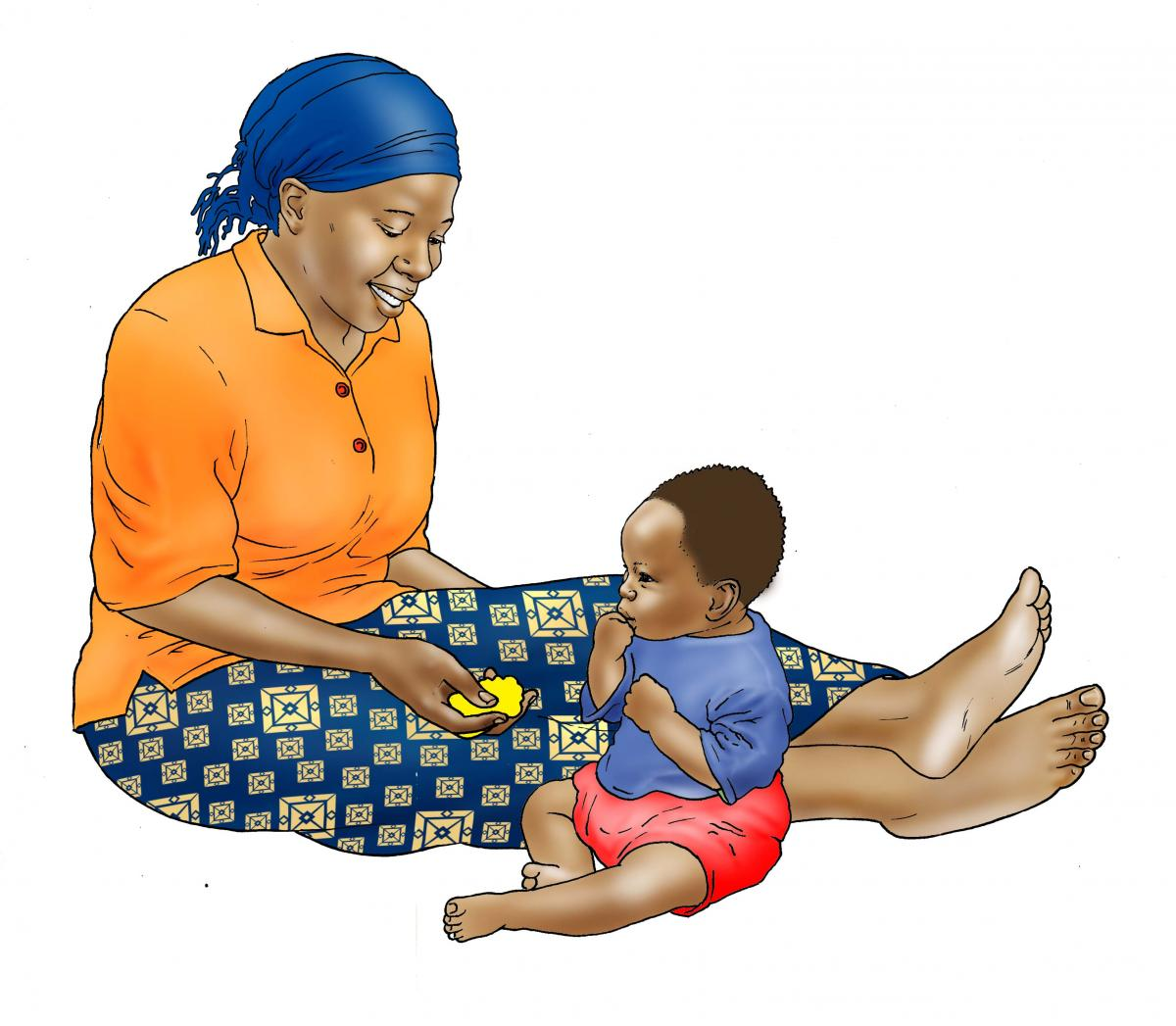 Complementary Feeding - Mother feeding child food 9-12 mo - 02 - Non-country specific