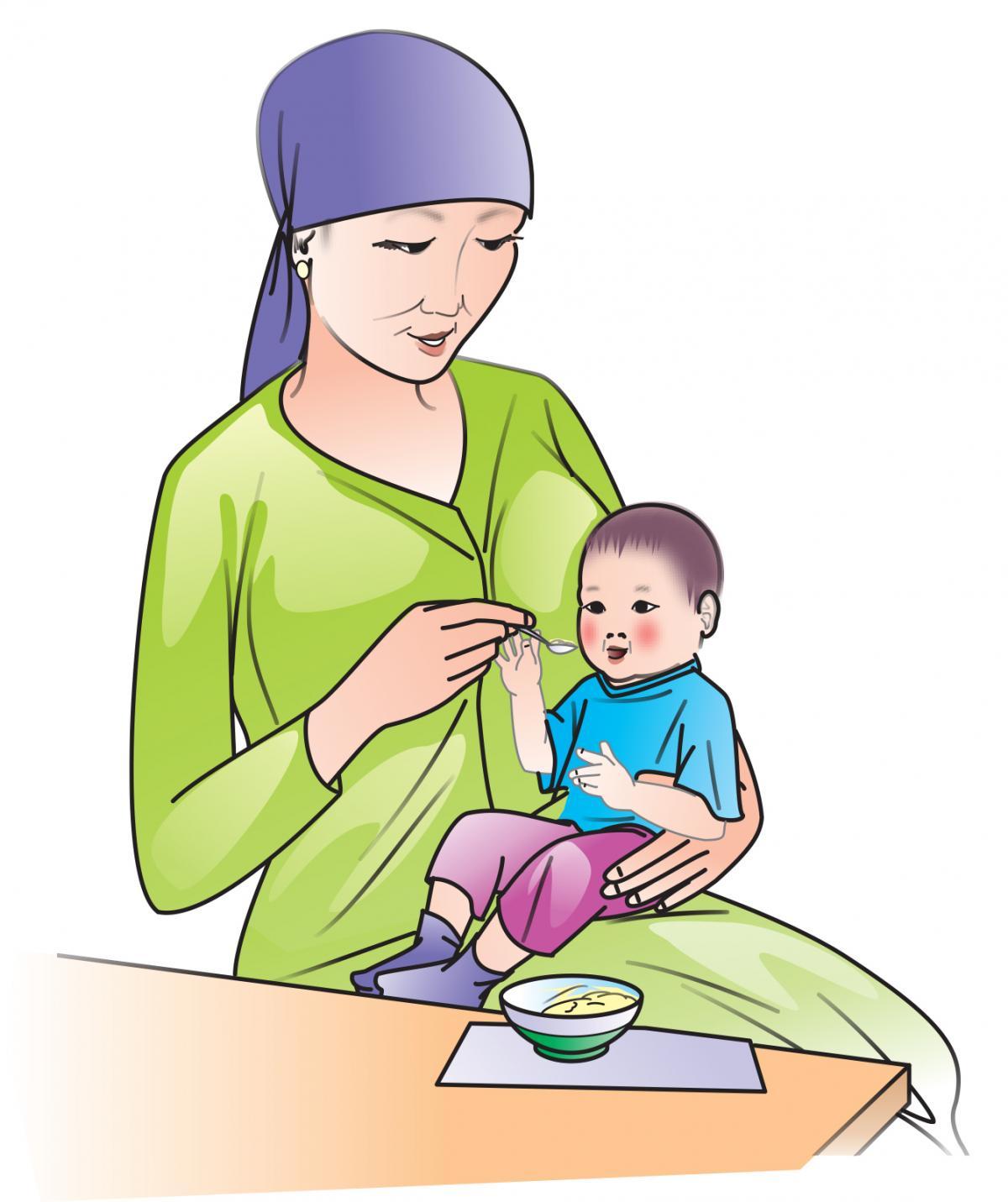 Hygiene - Wash hands before feeding the baby  - 02 - Kyrgyz Republic