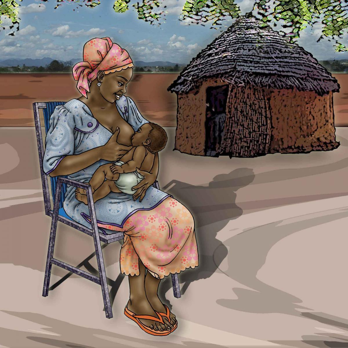 Breastfeeding - Exclusive breastfeeding - sitting - 00B - Uganda