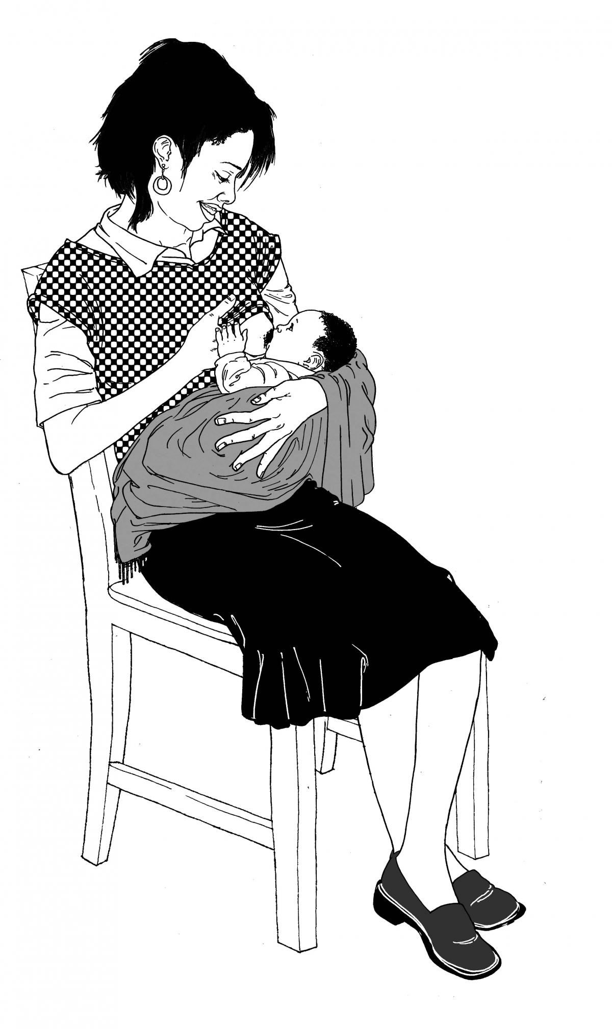 Breastfeeding - Exclusive breastfeeding - sitting - 02 - Non-country specific