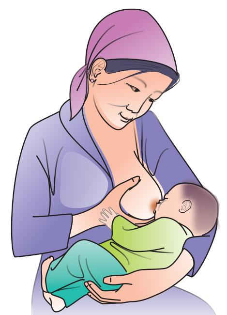 Breastfeeding - Breastfeeding positions - Cradle 0-24mo - 01 - Kyrgyz Republic