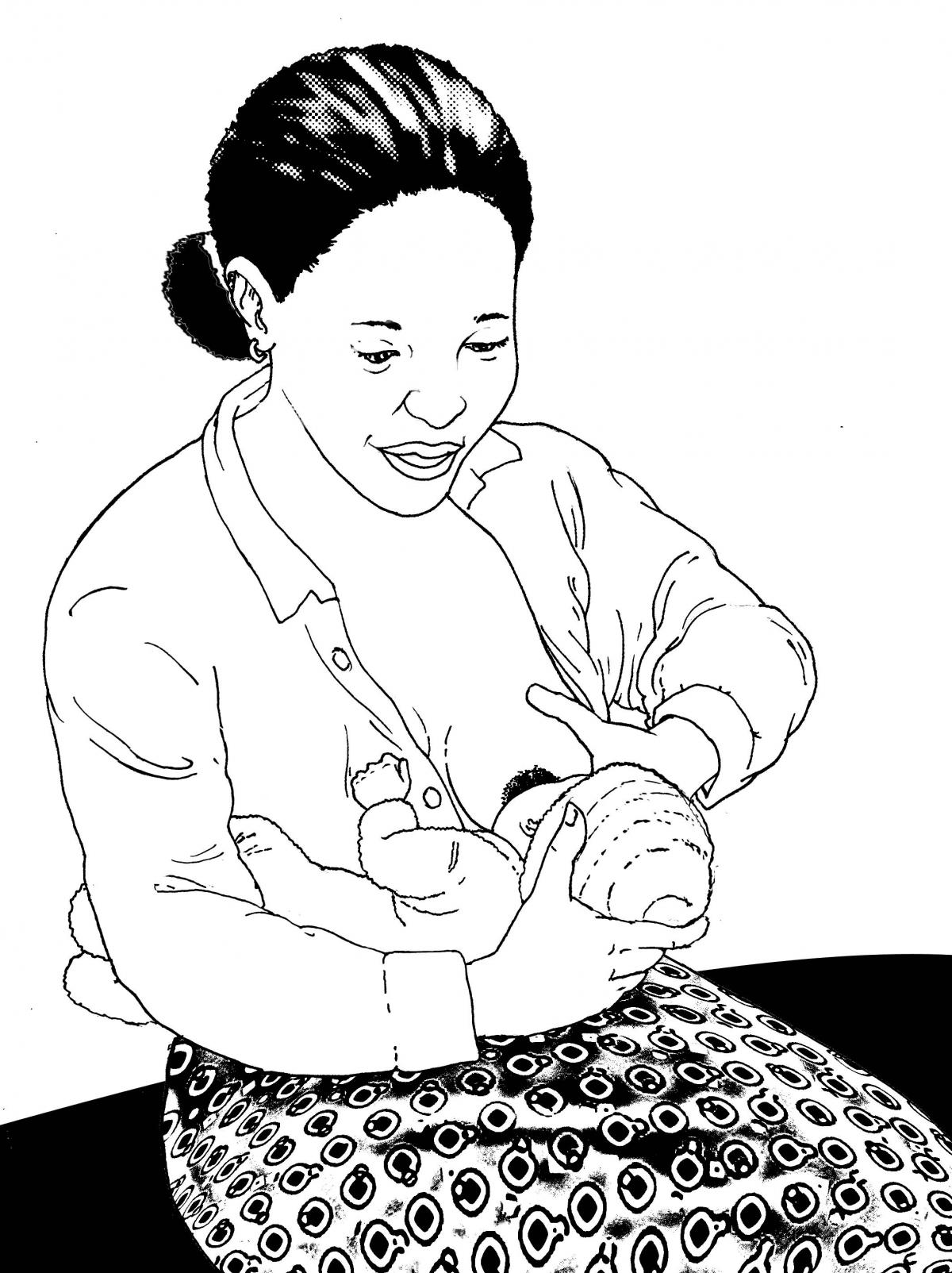 Breastfeeding - Breastfeeding positions 0-6 mo - 01A - Non-country specific