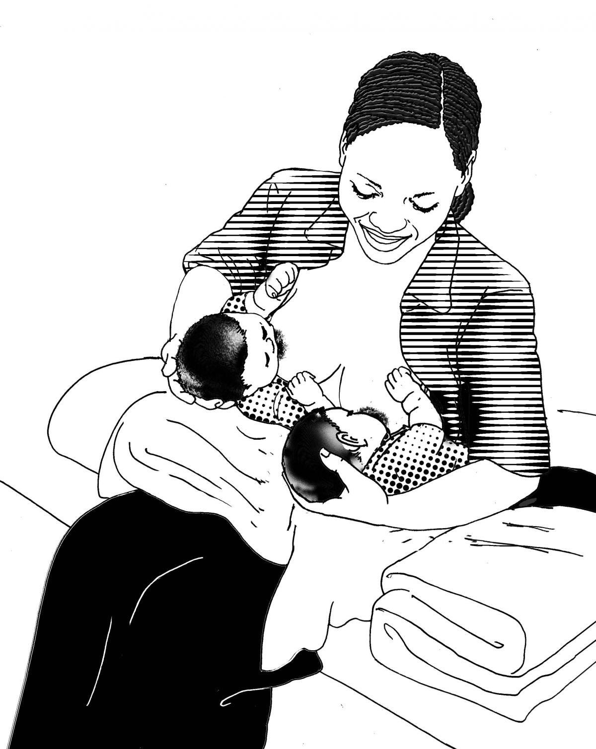 Breastfeeding - Breastfeeding positions 6-9 mo - 03 - Non-country specific