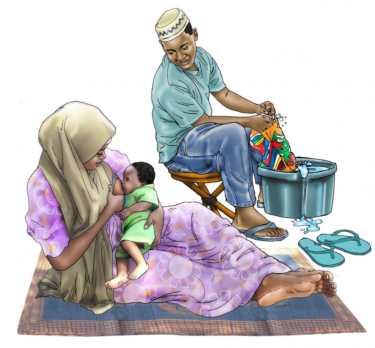 Breastfeeding - Father support for breastfeeding 0-6 mo - 00 - Niger