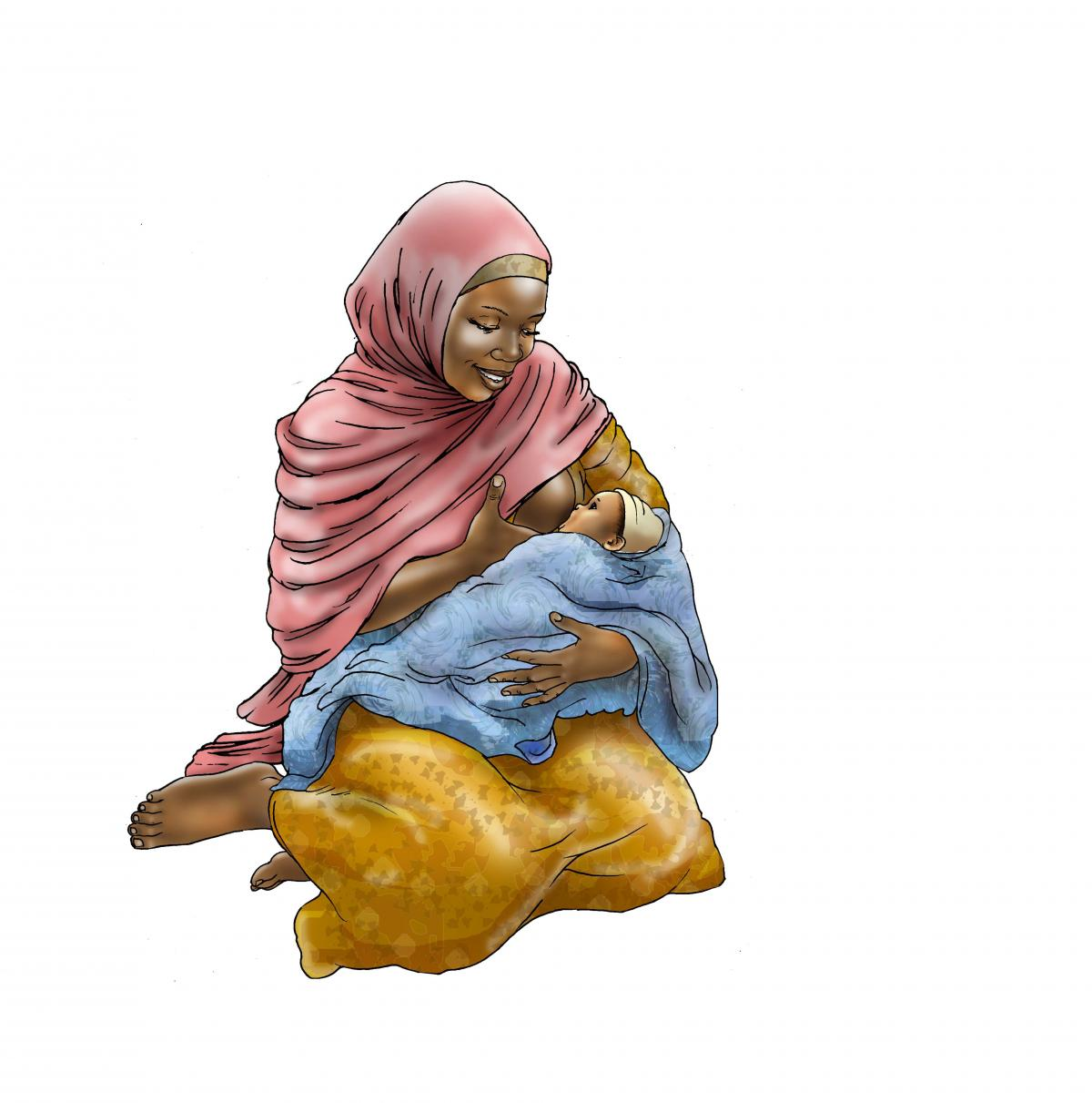 Breastfeeding - Breastfeeding positions 0-6 mo - 02 - Niger