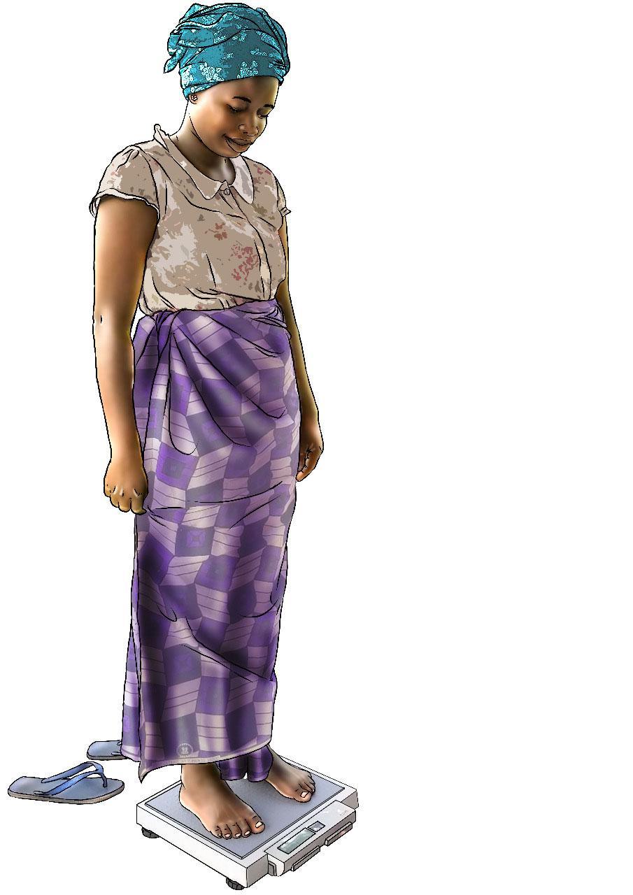 Child Health Care - Mother on scale - 04 - Rwanda