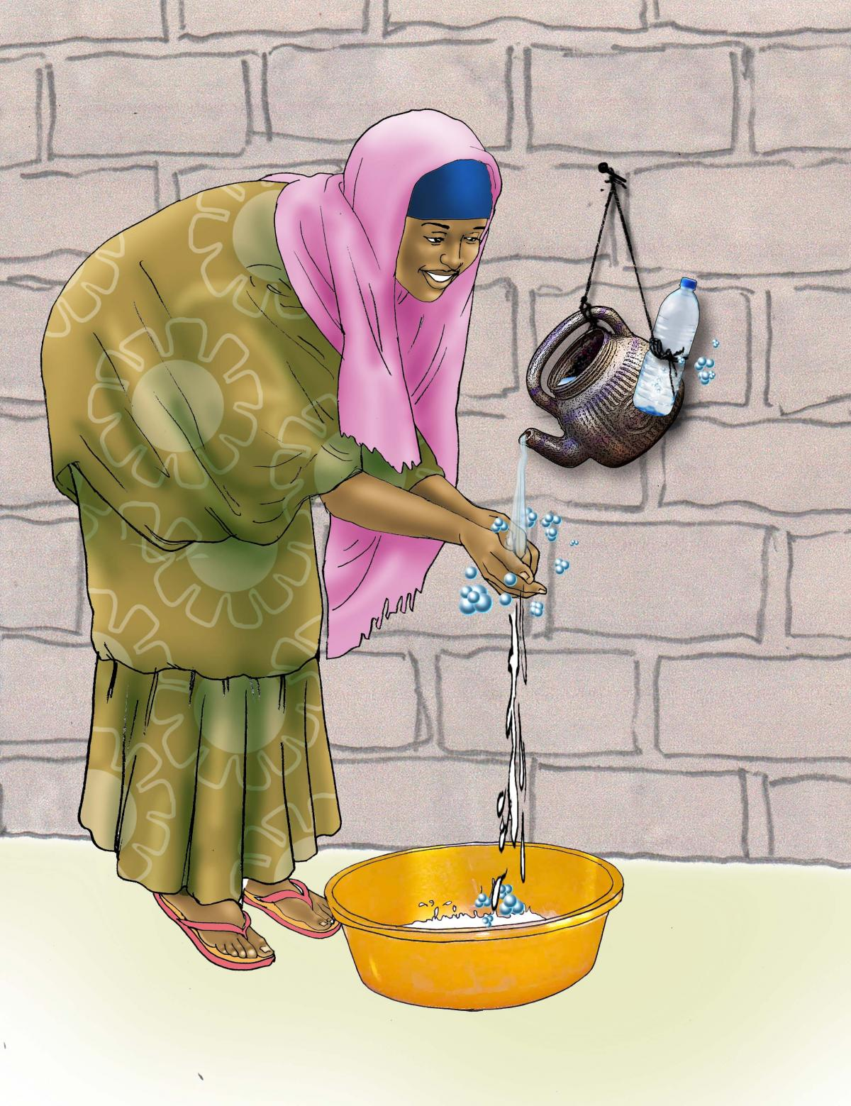 Sanitation - Woman washing hands - 06B - Niger