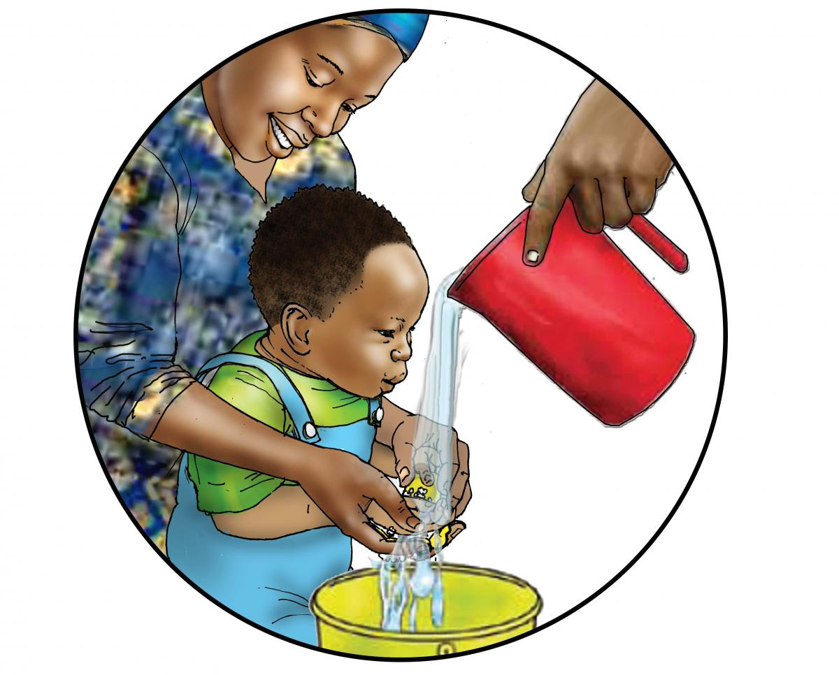 Hygiene - Washing baby's hands - 06A - Nigeria