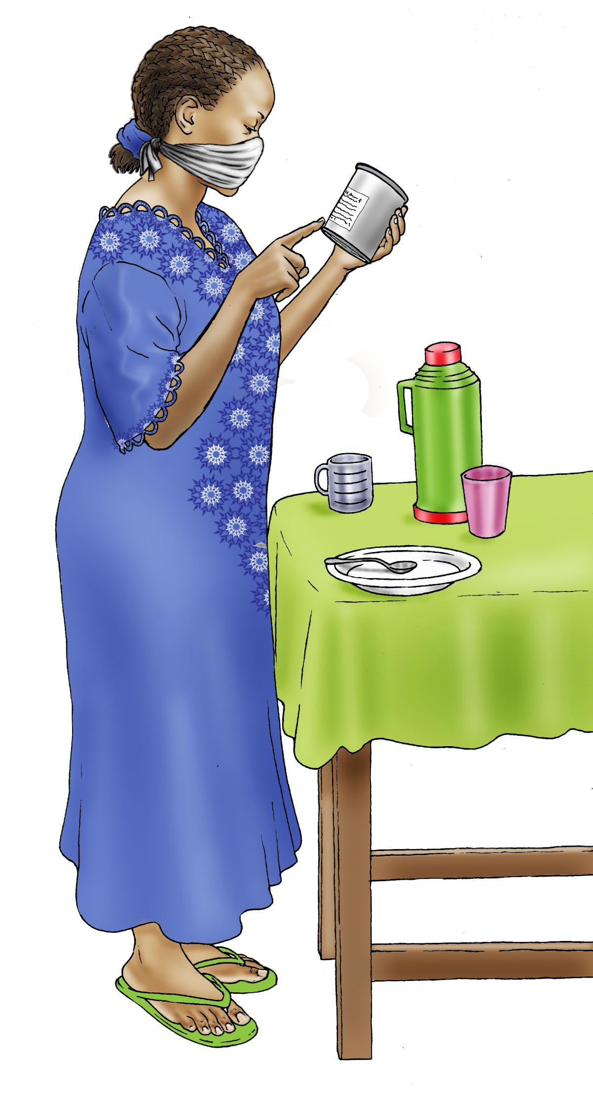 Cup Feeding - Preparing infant formula - 01 - COVID