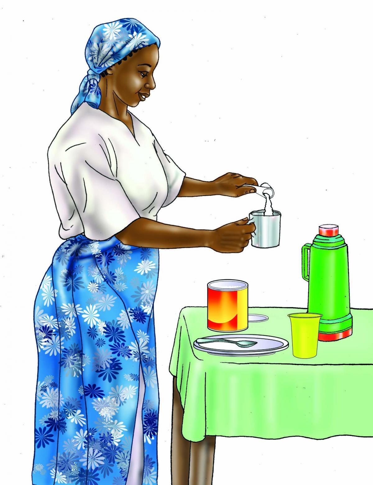 HIV - Preparing infant formula 0-24 mo - 02 - Tanzania