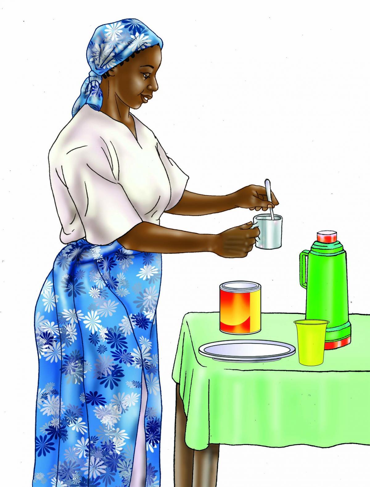 HIV - Preparing infant formula 0-24 mo - 04 - Tanzania