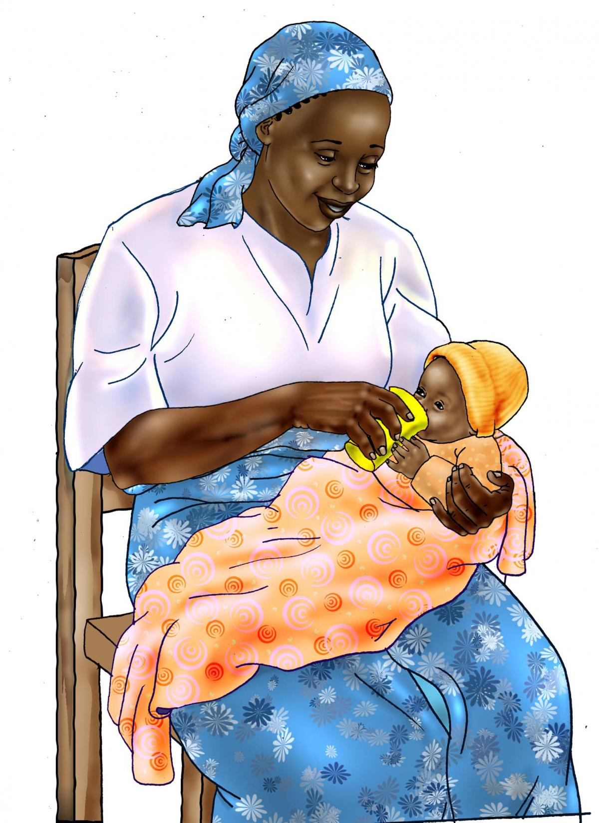 HIV - Cup feeding formula to an infant 0-24 mo - 05 - Tanzania